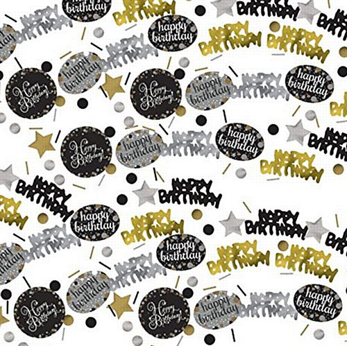 "Gold Celebration ""Happy Birthday"" Confetti - 34g - Pack of 3"