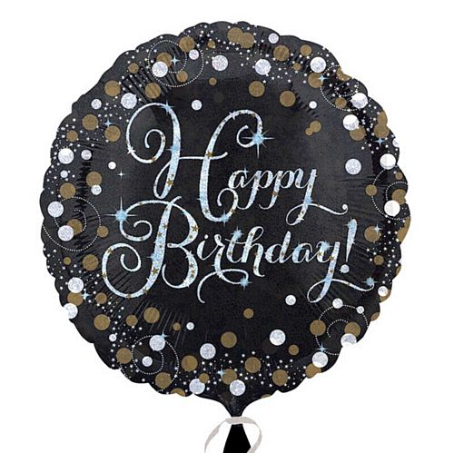 "Gold Celebration ""Happy Birthday"" Foil Balloon - 18"""