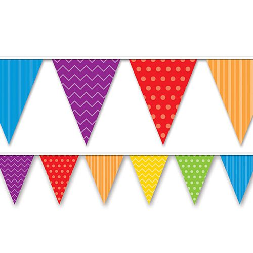 Dots and Stripes All Weather Pennant Bunting - 3.7m