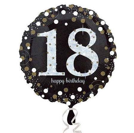 Gold Celebration 18th Birthday Foil Balloon - 18