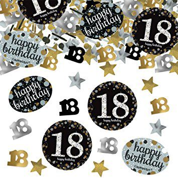 "Gold Celebration ""18th Birthday"" Confetti - 34g - Pack of 3"