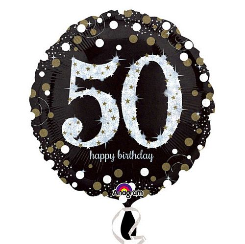 Gold Celebration 50th Birthday Foil Balloon - 18""