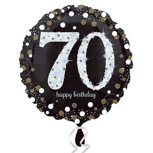 Gold Celebration 70th Birthday Foil Balloon - 18""