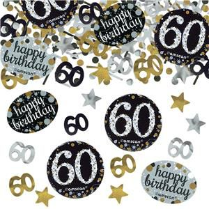 "Gold Celebration ""60th Birthday"" Confetti - 34g - Pack of 3"