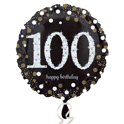 Gold Celebration 100th Birthday Foil Balloon - 18""