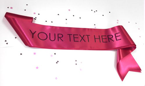 Hot Pink Personalised Sash- 100mm