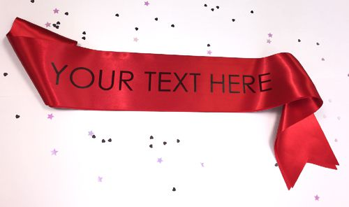 Red Personalised Sash- 100mm