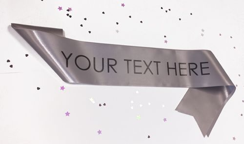 Silver Personalised Sash- 100mm