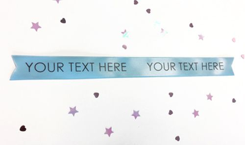 Pale Blue Personalised Ribbon- 15mm- 1 Metre