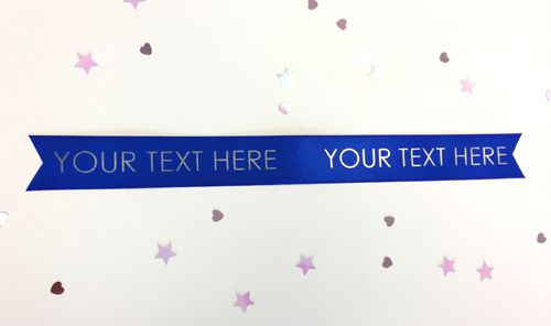 Royal Blue Personalised Ribbon- 15mm- 1 Metre