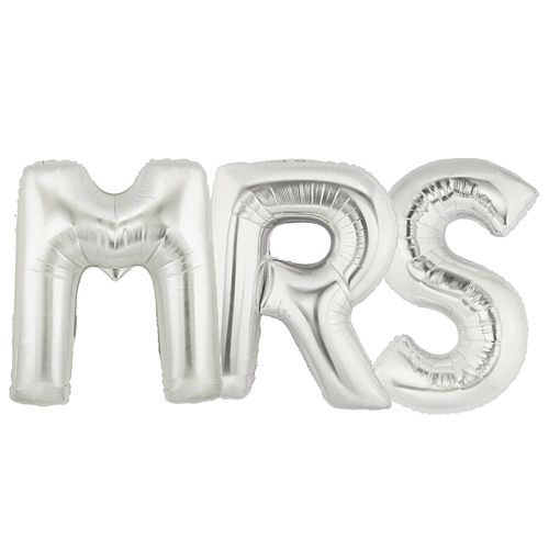 MRS Letter Balloons - Pack of 3