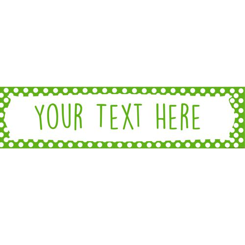 Green Polka Dot Personalised Banner - 1.2m