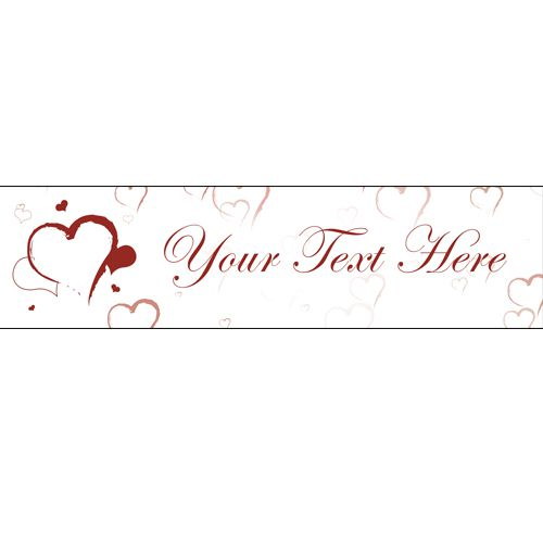 Hearts Script Personalised Banner - 1.2m