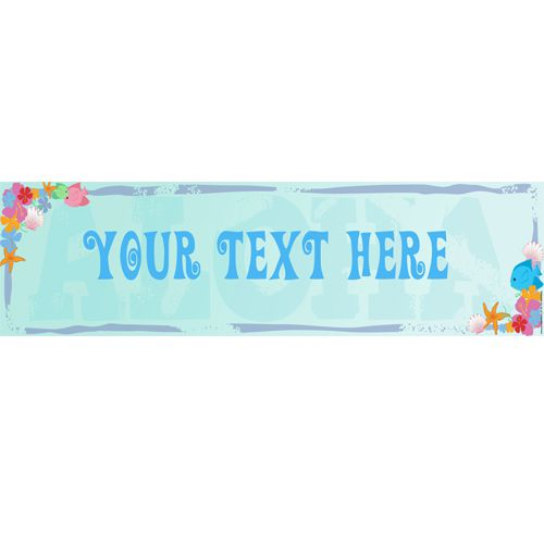 Under The Sea Personalised Banner - 1.2m