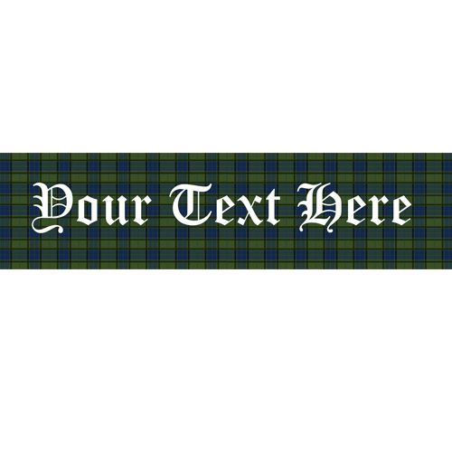 Green And Blue Tartan Personalised Banner - 1.2m