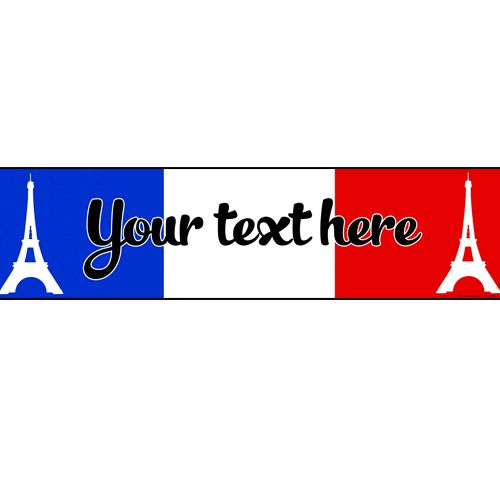 French Personalised Banner - 1.2m