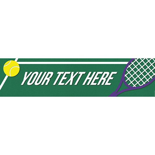 Tennis Personalised Banner - 1.2m