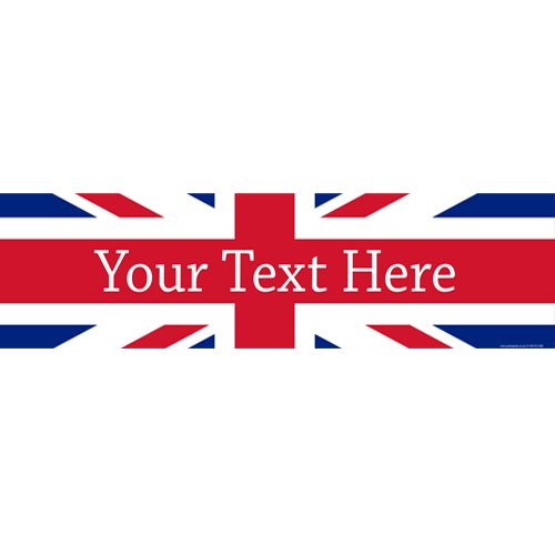 British Union Jack Personalised Banner - 1.2m