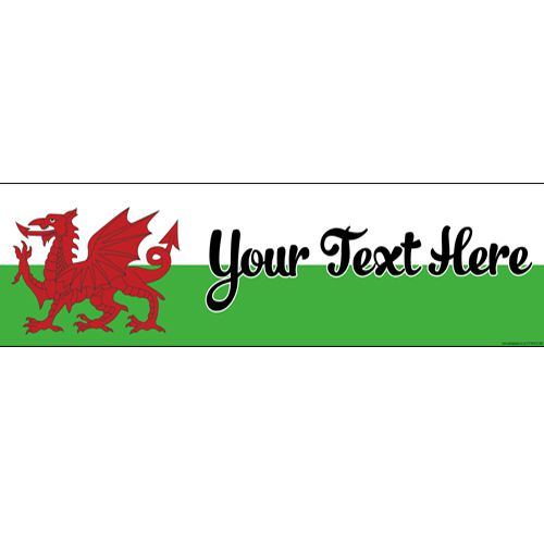 Welsh Personalised Banner - 1.2m