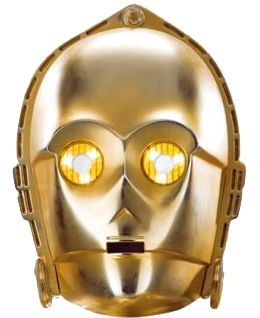 Star Wars C-3PO Card Mask