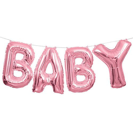 Pink 'Baby' Balloon Letter Banner Kit - 14