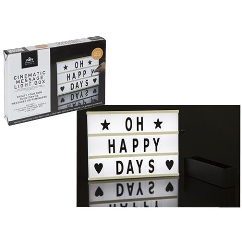 Light-up Personalised Cinematic Message Board - 30cm