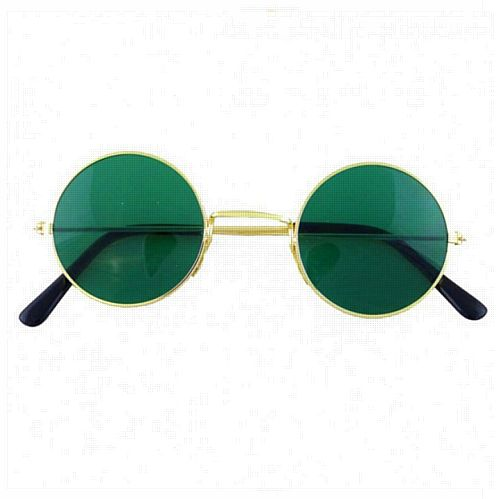 Green Tint John Lennon Hippy Glasses