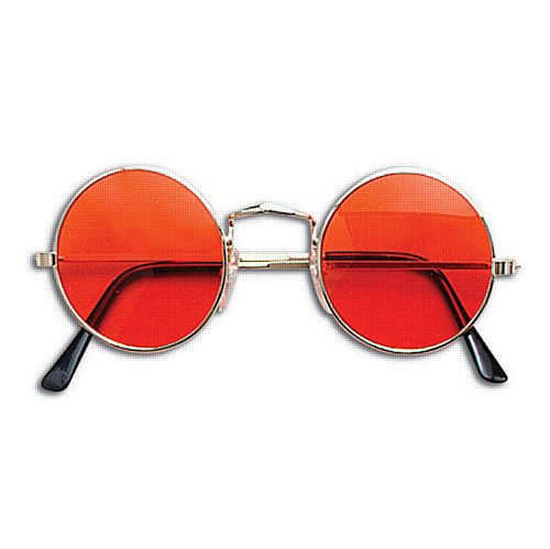 Orange Tint John Lennon Hippy Glasses