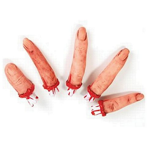 Realistic Bloody Fingers- Pack of 5