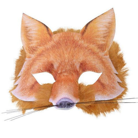 Realistic Soft Fox Mask