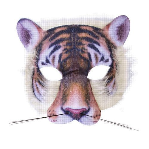 Realistic Soft Tiger Mask