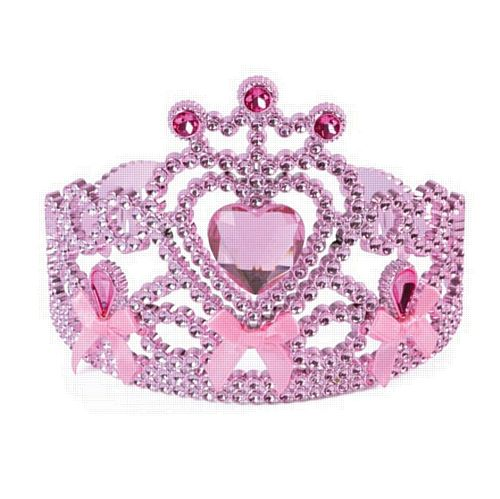 Pink Tiara With Ribbon Bows