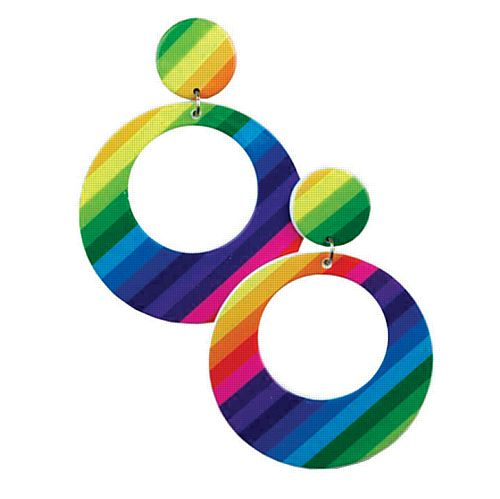 Mod Earrings- Rainbow
