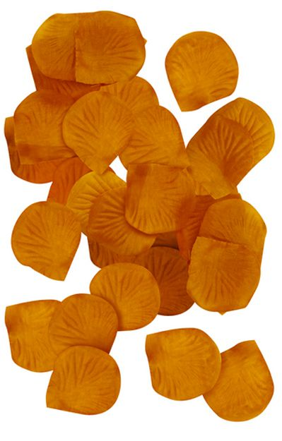 Gold Silk Rose Petals - Pack of 150