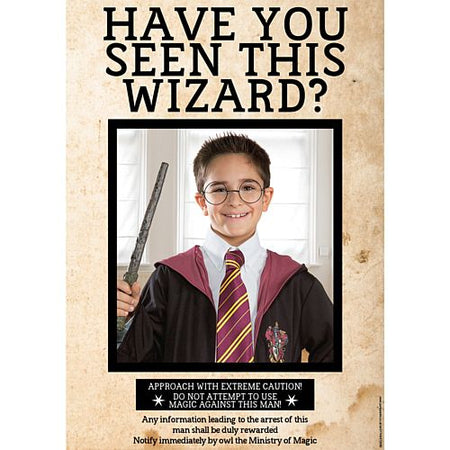 Have You Seen This Wizard? Personalised Wanted Poster with Photo - A3