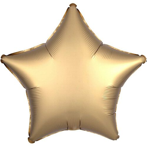 Gold Satin Finish Star Foil Balloon - 18""