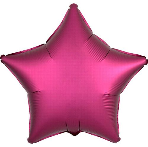 Hot Pink Satin Finish Star Foil Balloon - 18""