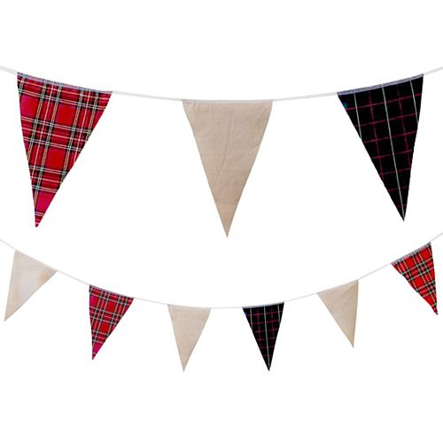 Bespoke Fabric Pennant Bunting - 24 Flags - 8m
