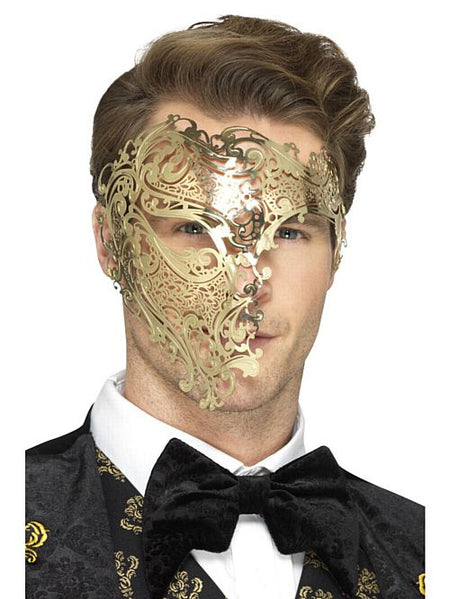 Deluxe Metal Filigree Phantom Mask