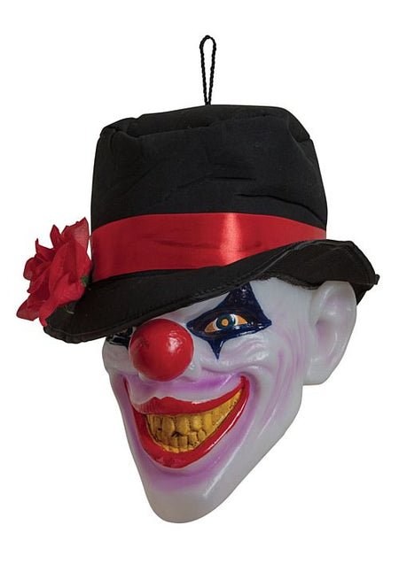 Scary Clown Head With Light And Sound