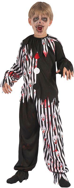 Children's Bloody Harlequin Clown Costume