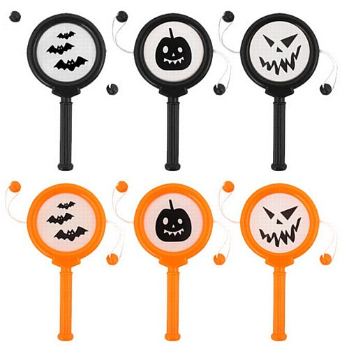 Mini Halloween Spin Drum 10cm - Assorted Designs - Each