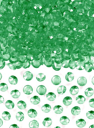 Emerald Green Table Crystals 6mm - 28g Pack