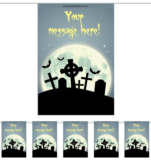 Personalised Haunted Graveyard Themed Bunting - 3m