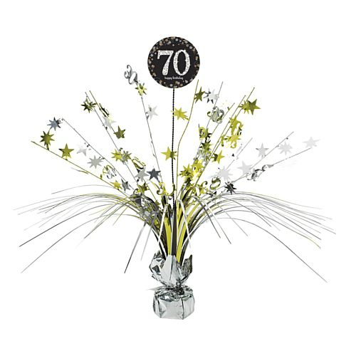 Gold Celebration 70th Centrepiece Sprays - 45cm