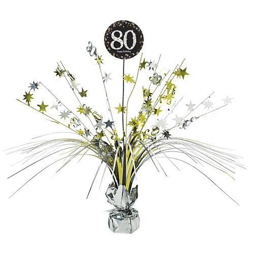 Gold Celebration 80th Centrepiece Sprays - 45cm