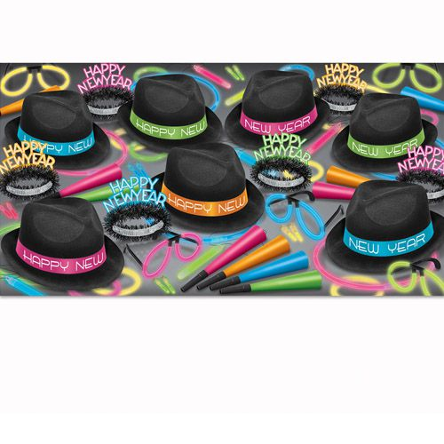 The Neon Glow Assortment Party Packs for 50 People