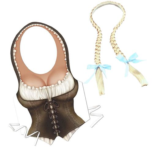 Oktoberfest Fraulein Fancy Dress Kit