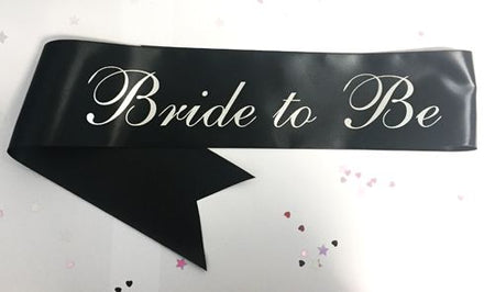 Deluxe Bride To Be Sash - Black