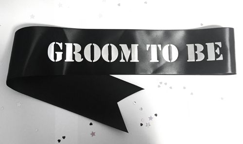 Groom To Be Sash - Black